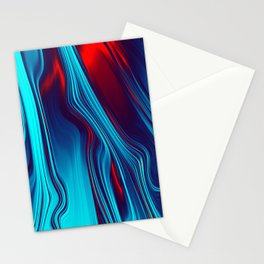 Teal With Red, Streaming Stationery Cards