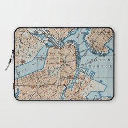 Vintage Map of Boston MA (1906) Laptop Sleeve