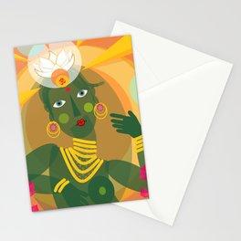 Green Tara doll Stationery Cards