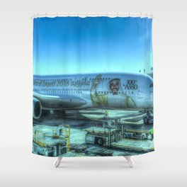 Emirates Airbus A380-800 Shower Curtain
