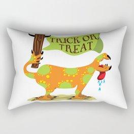 Hand Dog - Trick or Treat Rectangular Pillow