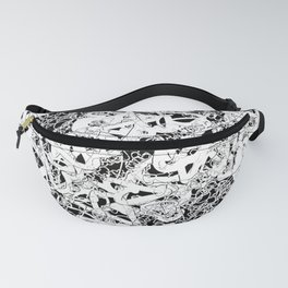 modern love in black and white Fanny Pack