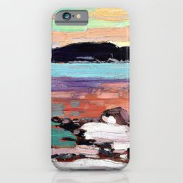 12,000pixel-500dpi - Tom Thomson - Landscape with Snow - Digital Remastered Edition iPhone Case