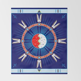 Crazy Horse Dreaming Throw Blanket