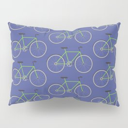 Green bikes on blue Pillow Sham