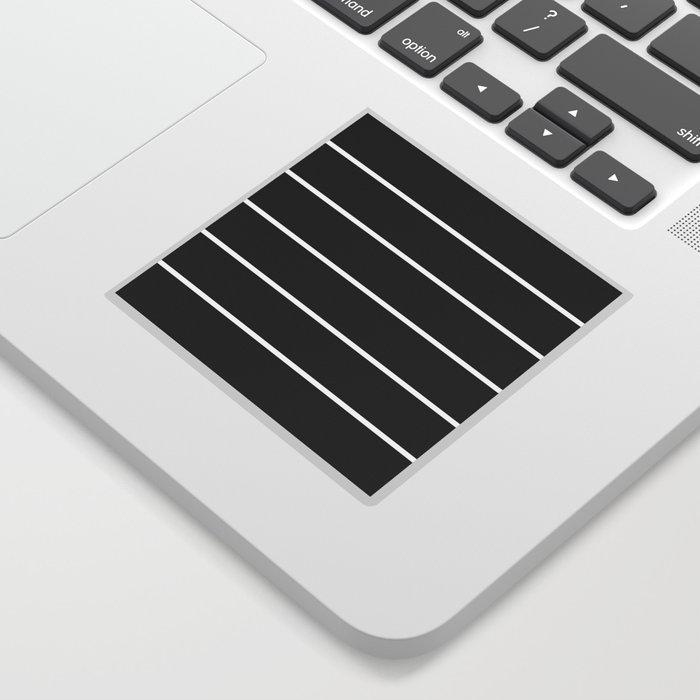 Black And White Bar Stripe Line Minimalist Stripes Lines Sticker