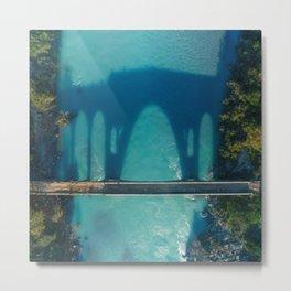 The Shadow of the Bridge Metal Print