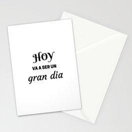 HOY VA A SER UN GRAN DIA - SPANISH Stationery Cards