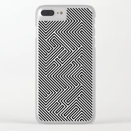Art maze verticle Clear iPhone Case