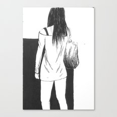 bag girl Canvas Print