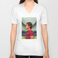 boy V-neck T-shirts featuring Boy by Ryan Haran