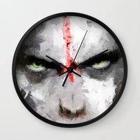 ape Wall Clocks featuring Ape by Vadim Cherniy