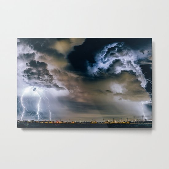 Lightning #clouds Metal Print