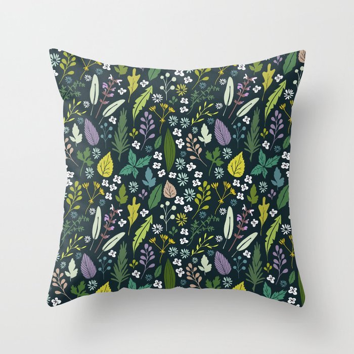 Herbal dream Throw Pillow
