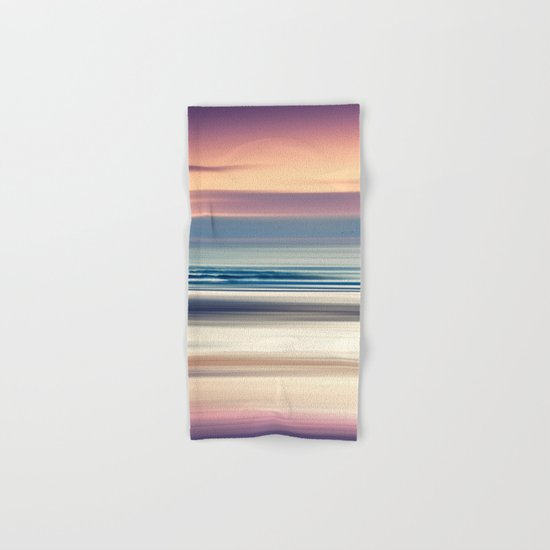 Sharing the Magic - abstract seascape at sunset Hand & Bath Towel