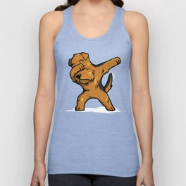 Funny Dabbing Airedale Terrier Dog Dab Dance Unisex Tank Top