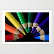 Rainbow Pencils. Art Print
