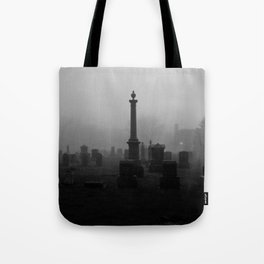 Cemetery (Black and White) Tote Bag