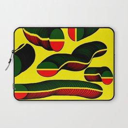 Slinky Coins (African & Jamaican Colors) - Rasha Stokes Laptop Sleeve