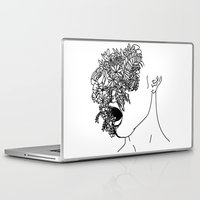 anxiety Laptop & iPad Skins featuring Anxiety by Jacquelyn Anthony
