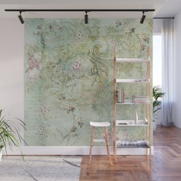 Vintage French Floral Wallpaper Wall Mural