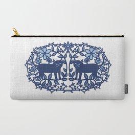 Scandinavian Cat blue Carry-All Pouch