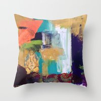 ganesh Throw Pillows featuring Ganesh by Prema Designs