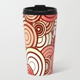 Layered random circles Travel Mug