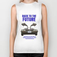 back to the future Biker Tanks featuring Back To The Future by FunnyFaceArt