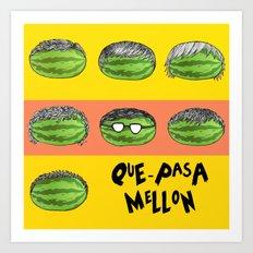 Mellon EP Cover Art - ¿Que-Pasa? Art Print