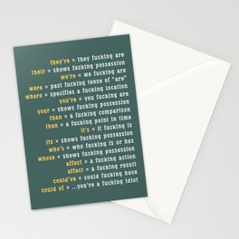 Rules of ... Grammar Stationery Cards
