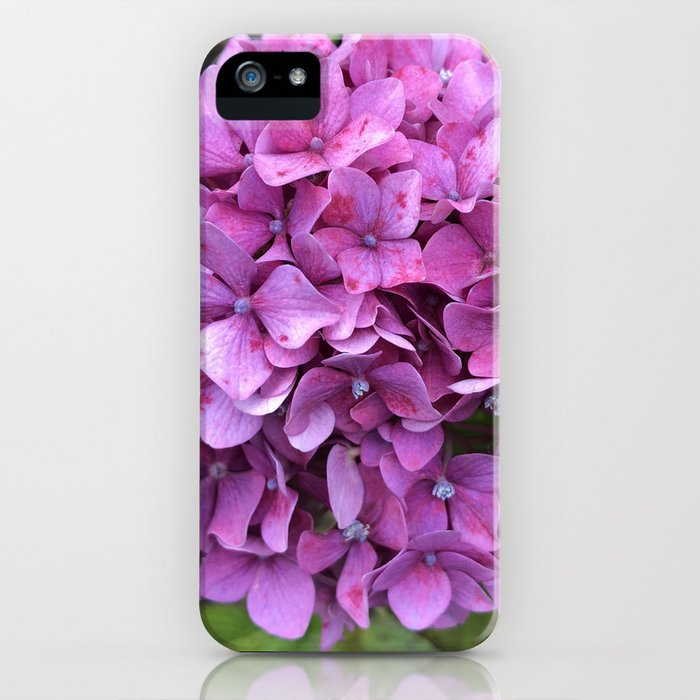 Pink speckled hydrangea iPhone Case