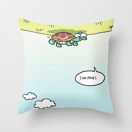 I am flying Throw Pillow