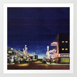 OLD VEGAS BY NIGHT Art Print