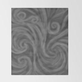Dark Gray Swirl Throw Blanket