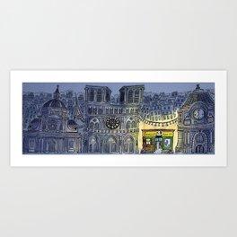 Hark! 'tis Paris! Art Print