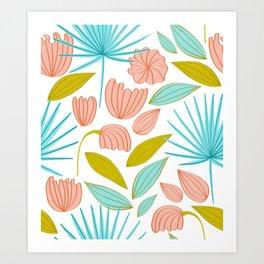 Divine Floral #illustration #pattern Art Print