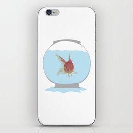 Stuck Goldfish iPhone Skin