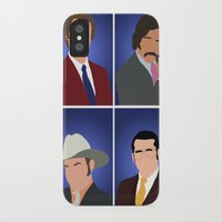anchorman iPhone & iPod Cases featuring News Team Assemble - Anchorman by Tom Storrer