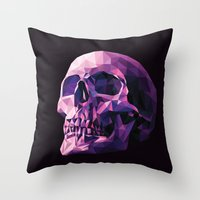 skull Throw Pillows featuring Skull by Roland Banrevi