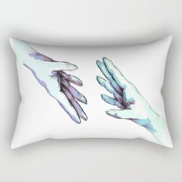 she would touch you with her absent hands Rectangular Pillow