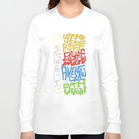 hogwarts Long Sleeve T-shirts featuring Hogwarts Houses by oddhour