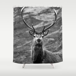 Stag b/w Shower Curtain
