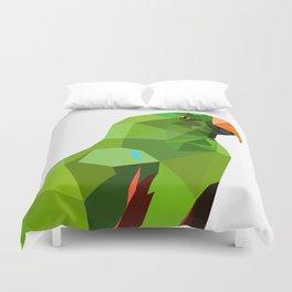 Eclectus parrot Geometric bird art Duvet Cover