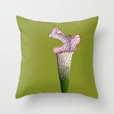 Pitcher Plant - Sarracenia leucophylla Throw Pillow