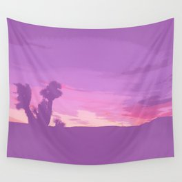 Lavender Joshua Sunset - Pop_Art Wall Tapestry