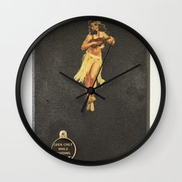 Hula Only While Winding Wall Clock