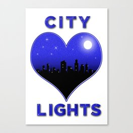 I Love City Lights Canvas Print