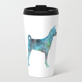 Female Basenji in watercolor Travel Mug