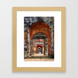 Multiple doors in Hue's imperial city Framed Art Print